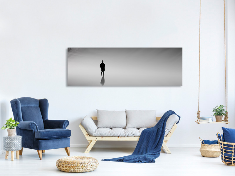 Panoramic Canvas Print Reflection in the fog