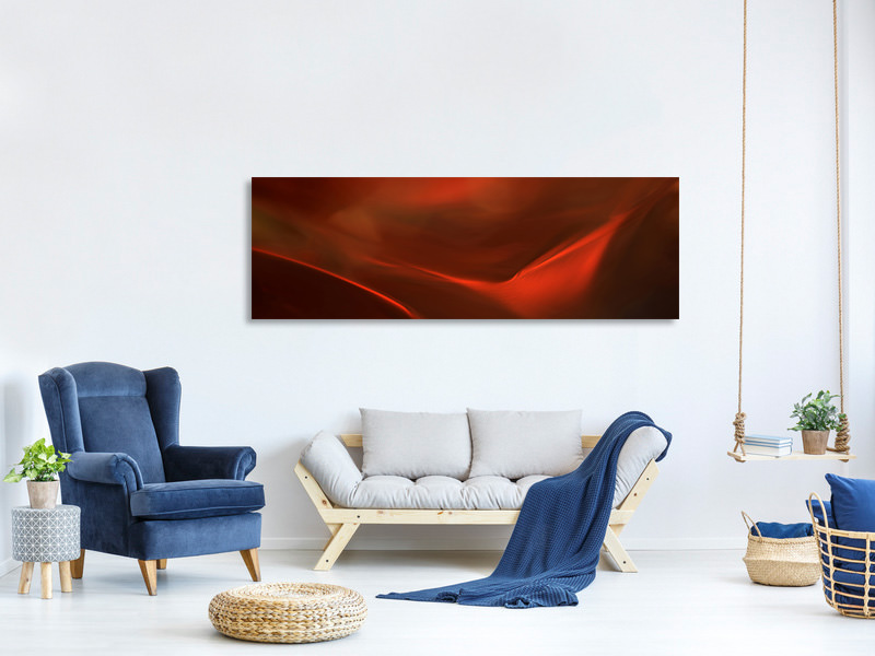 Panoramic Canvas Print The Red Valley