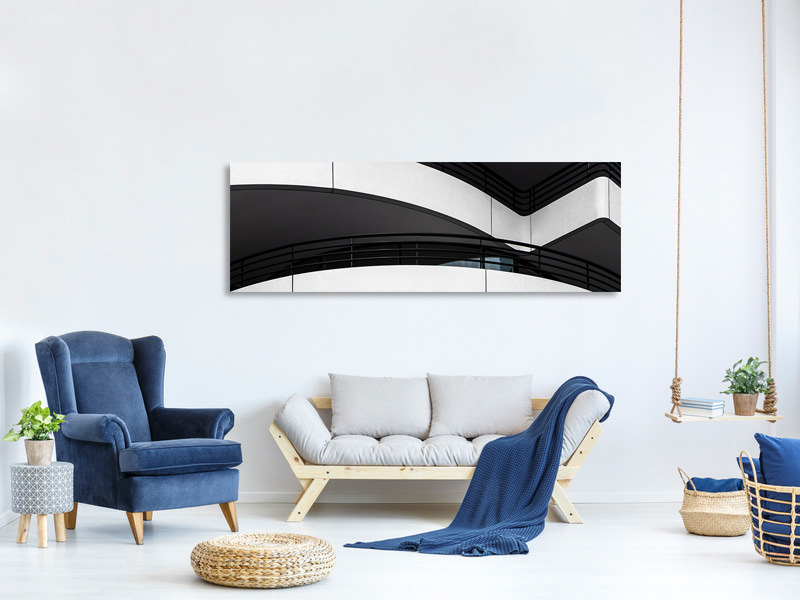 Panoramic Canvas Print Balcony Lines