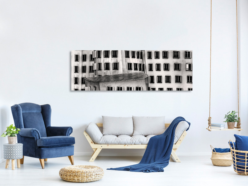 Panoramic Canvas Print Windows