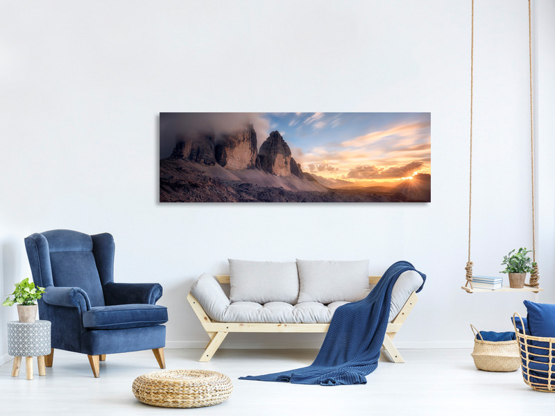 Panoramic Canvas Print The Final Moment
