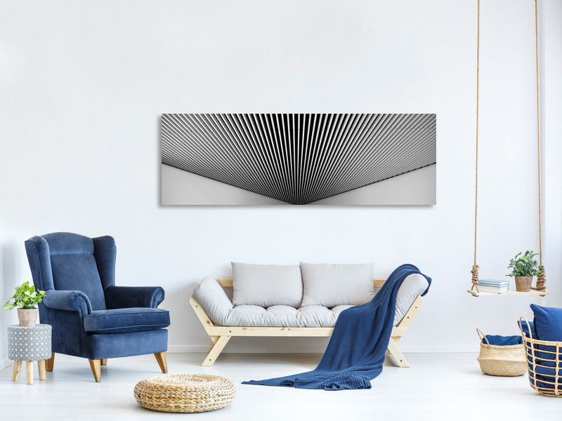Panoramic Canvas Print Abstract Lines
