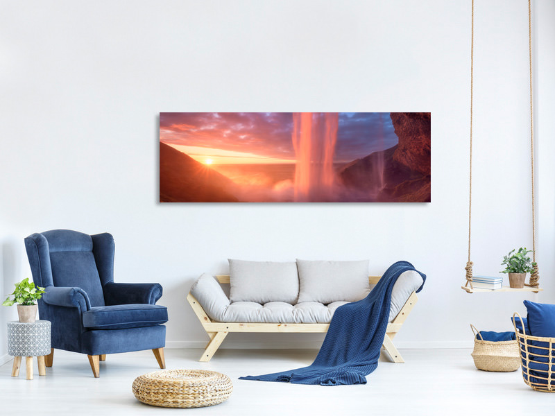 Panoramic Canvas Print A Wall Of Flames