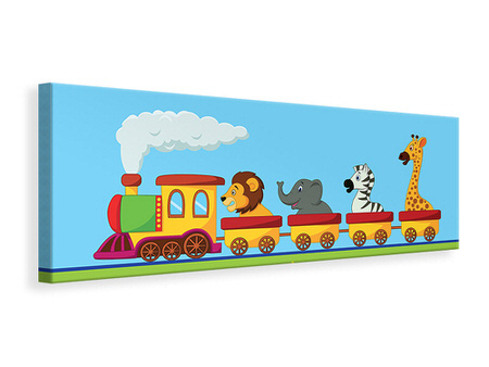 Panoramic Canvas Print Animal Train