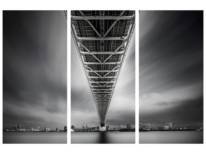 3 Piece Canvas Print Rainbow Bridge Profile