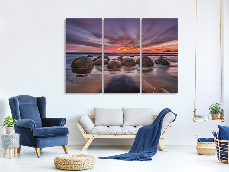 3 Piece Canvas Print The Barrier
