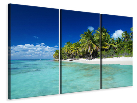 3 Piece Canvas Print The Dream Island