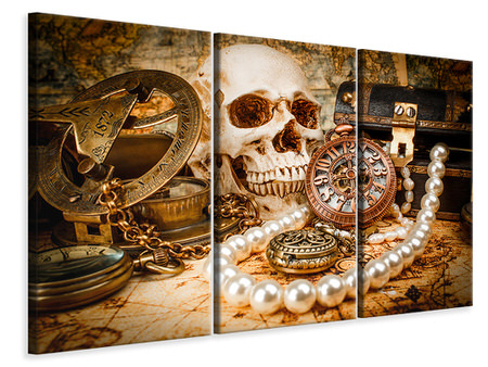 3 Piece Canvas Print Treasure Hunt