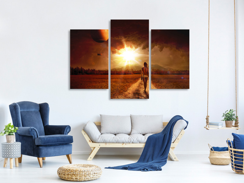 Modern 3 Piece Canvas Print fervor