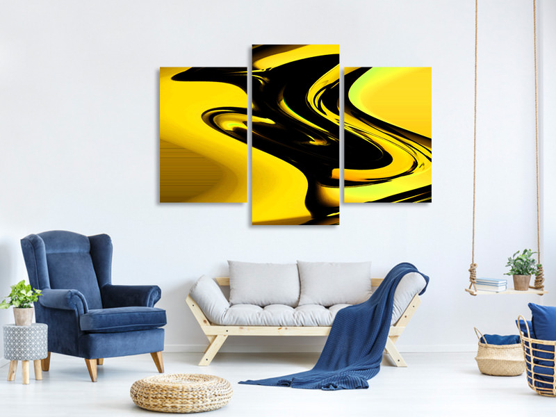 Modern 3 Piece Canvas Print Flowing movement