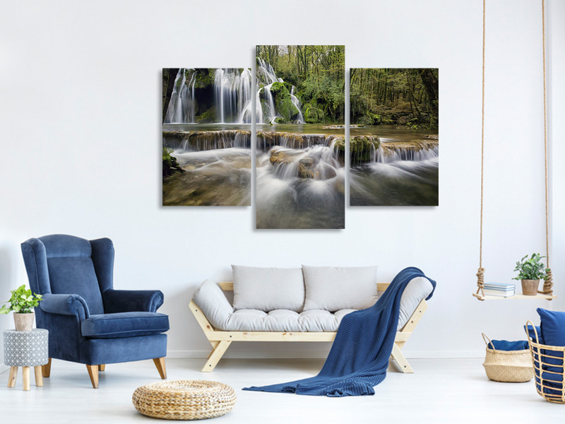 Tableau sur toile en 3 parties moderne Attention cascades
