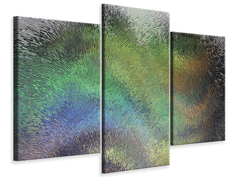 Modern 3 Piece Canvas Print The art behind the glass