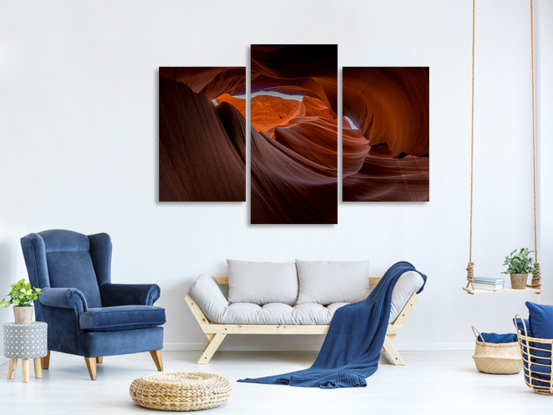 Modern 3 Piece Canvas Print Fantastic antelope canyon
