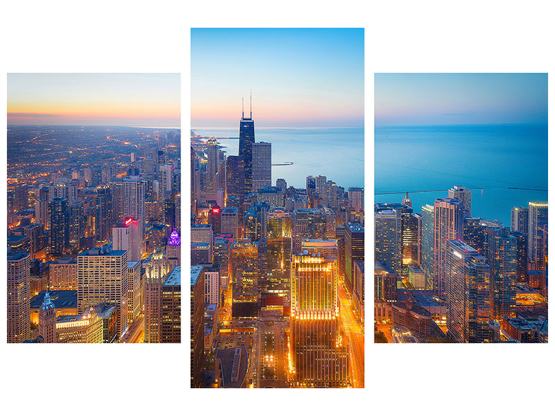 Stampa su tela 3 pezzi moderno The Magnificent Mile