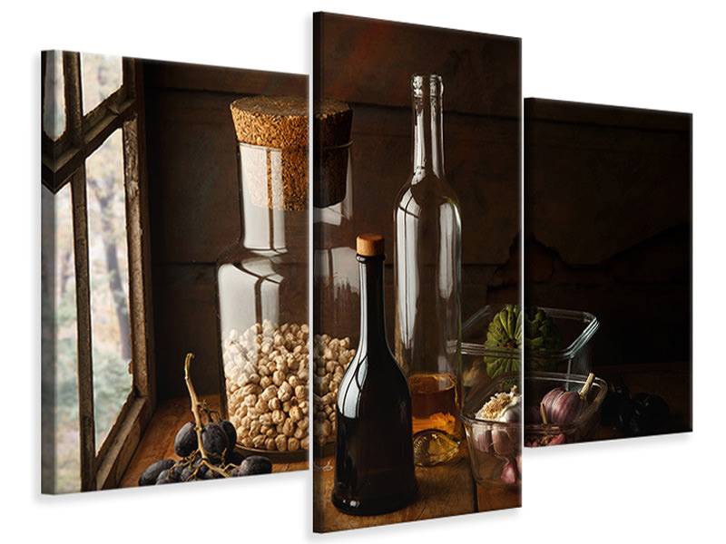 Modern 3 Piece Canvas Print Still Life With Chickpea