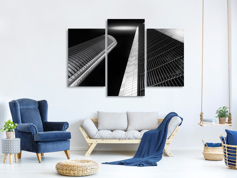Modern 3 Piece Canvas Print Look At The Sky