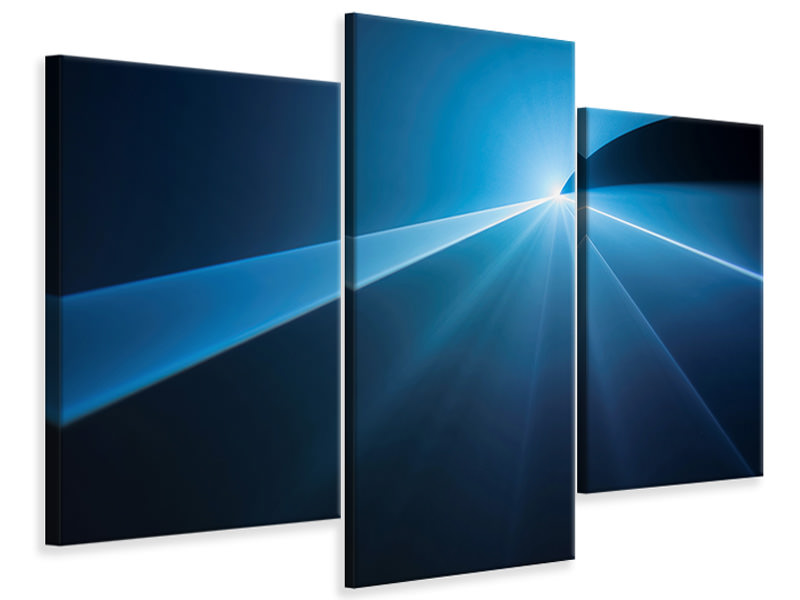 Modern 3 Piece Canvas Print To The Point
