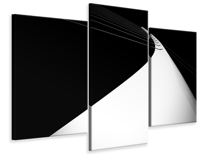 Modern 3 Piece Canvas Print Arch To The Sky