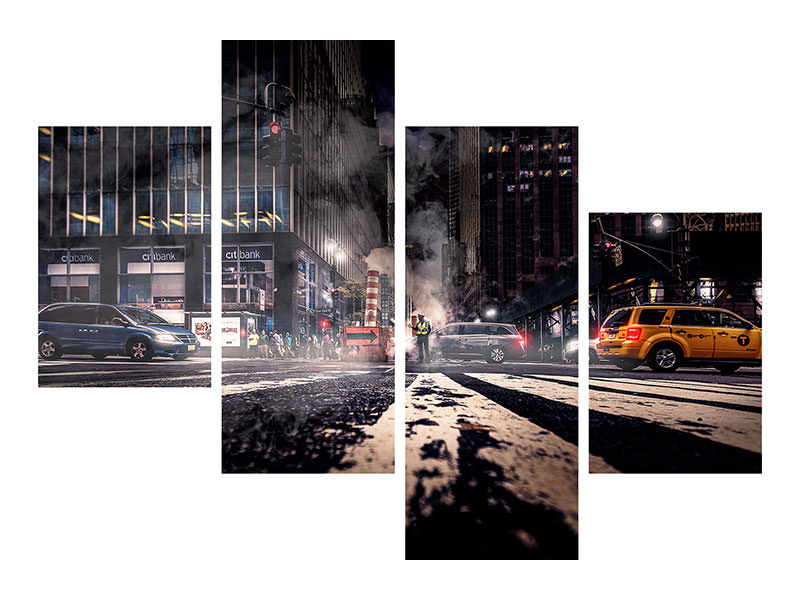 Modern 4 Piece Canvas Print Gotham - Breaking Dawn