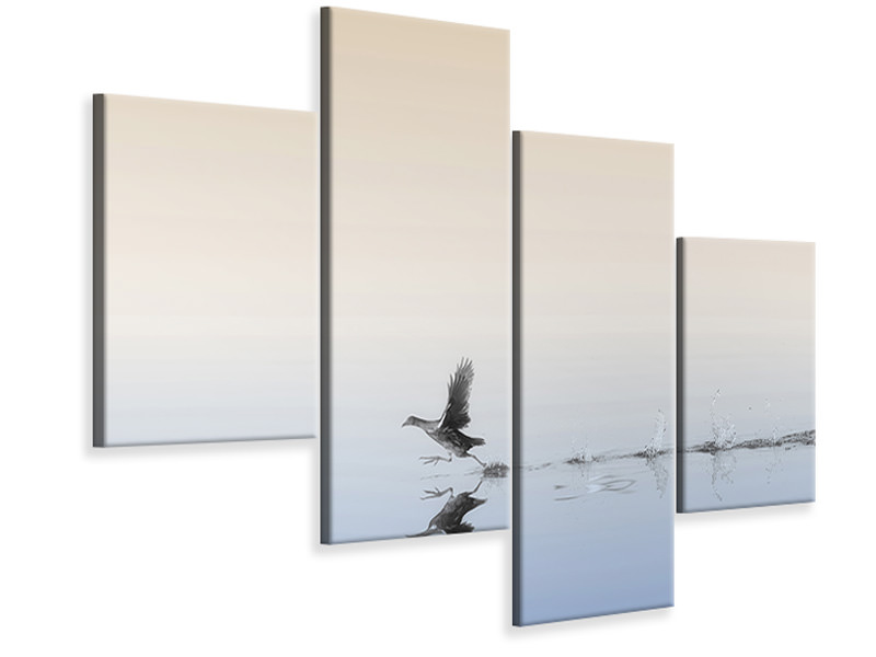Modern 4 Piece Canvas Print Untitled 45