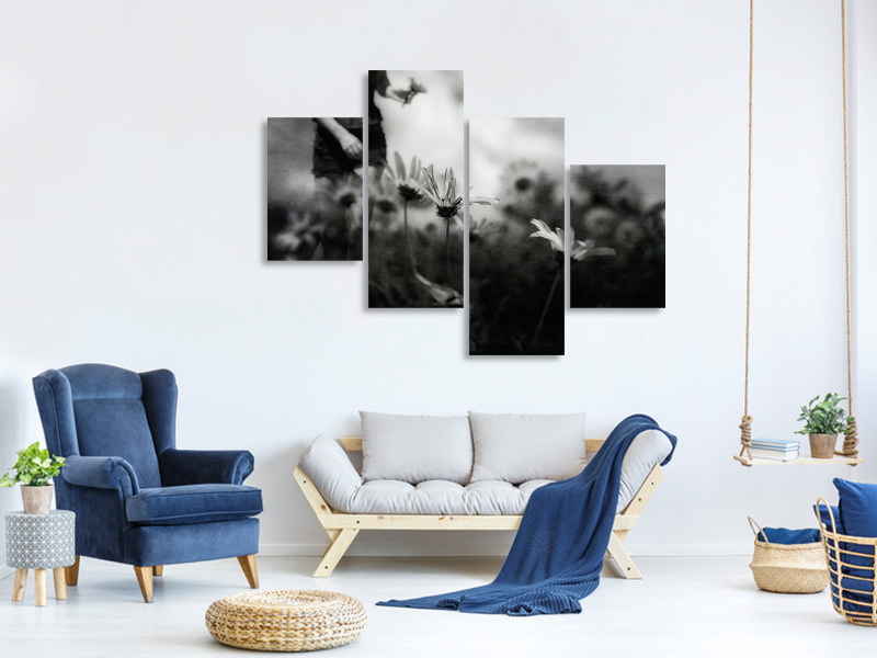 Modern 4 Piece Canvas Print Then I Was Young And Unafraid