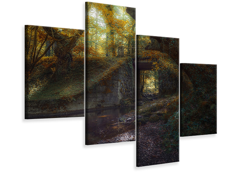 Modern 4 Piece Canvas Print Ucieda