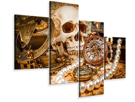 Modern 4 Piece Canvas Print Treasure Hunt
