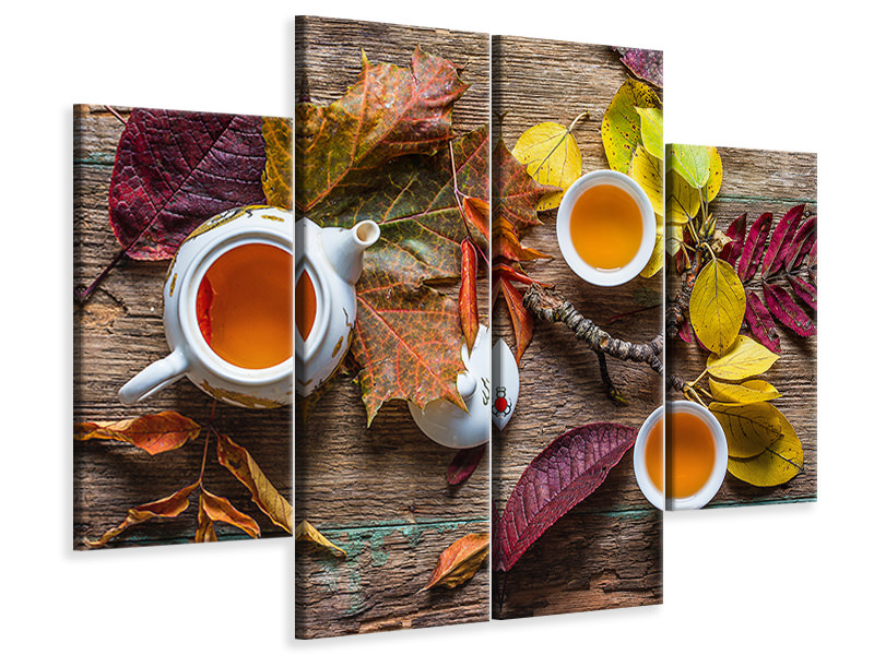 4 Piece Canvas Print Tea Of September