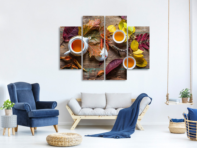 Tableau sur Toile en 4 parties Tea Of September