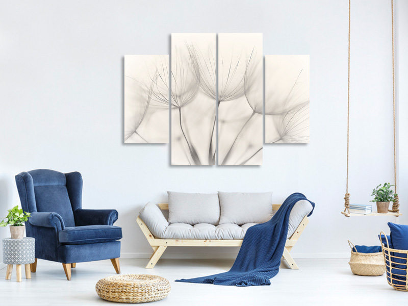 4 Piece Canvas Print No Title