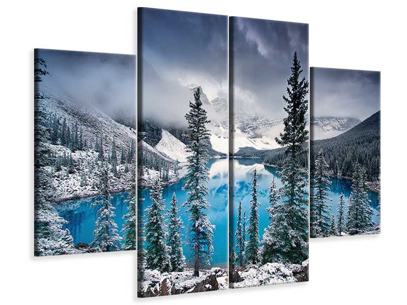 4 Piece Canvas Print Morning Blues