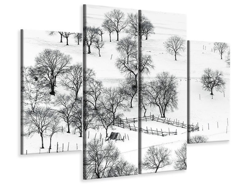 4 Piece Canvas Print Bashang Winter