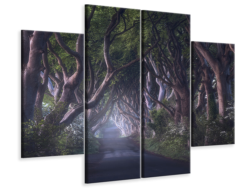 4 Piece Canvas Print The Dark Hedges