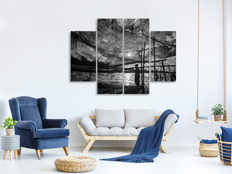 4 Piece Canvas Print Wind Of The Sea