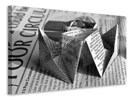 Canvas print Origami newspaper