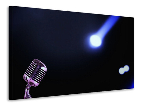 Canvas print Microphone in light