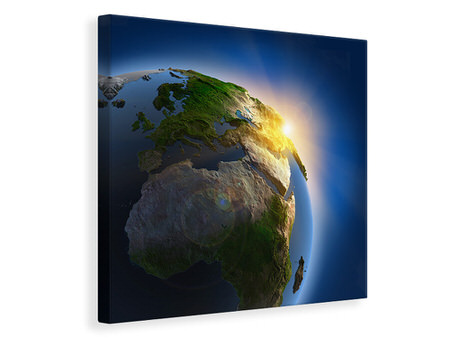Canvas print Sun And Earth