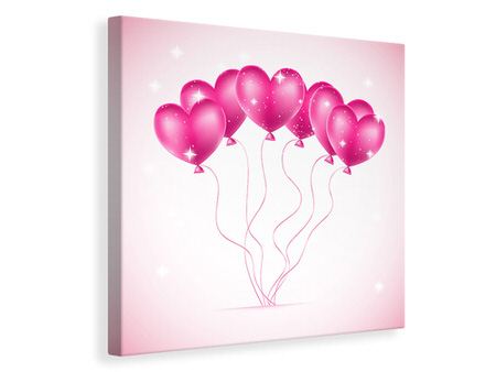 Canvas print Heart Balloons