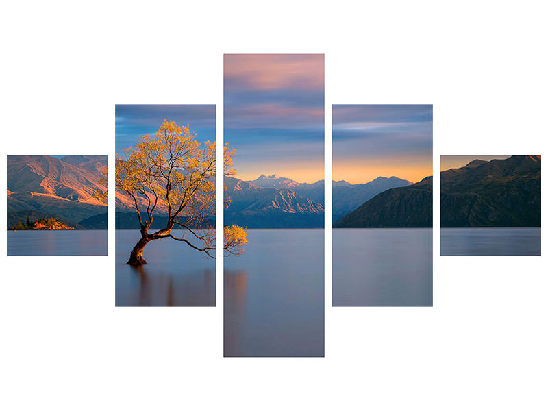 5 Piece Canvas Print Morning Glow