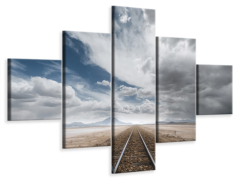5 Piece Canvas Print The Long Road