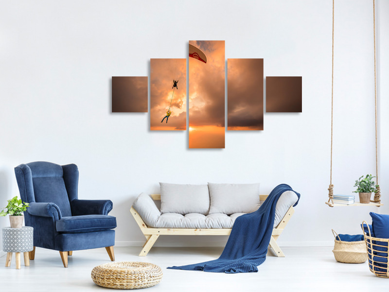 5 Piece Canvas Print Suspended With Ferdi Toy and Guillaume Galvani