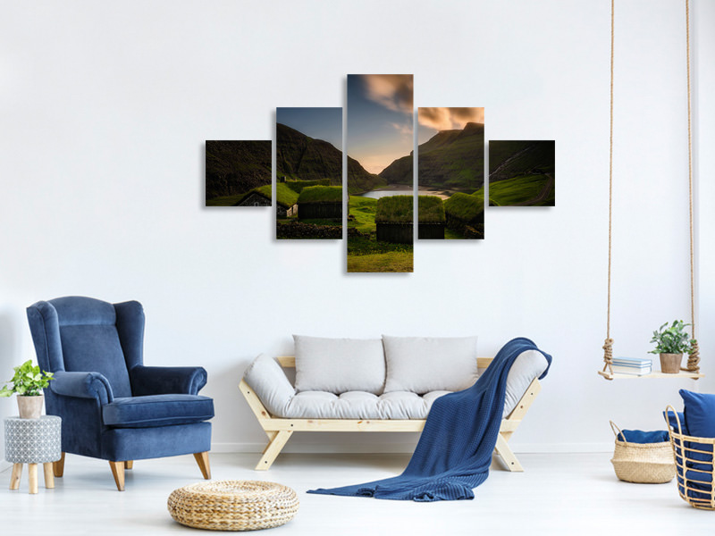 5 Piece Canvas Print Saksun Village