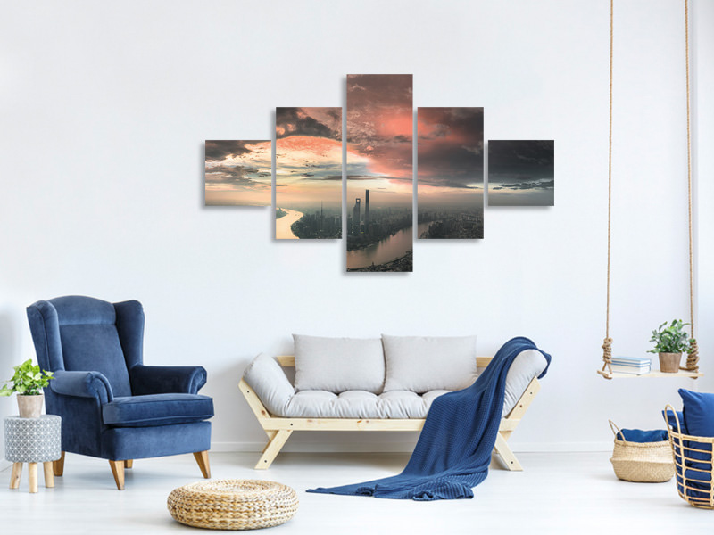 5 Piece Canvas Print The Bay